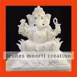 Pure White Ganesh Statues