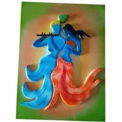 12 X 16 Inch Radha Krishna Wooden Frame