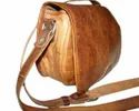 Flap Closure Leather Sling Bag