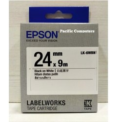 Epson LK-6WBN 24mm Black On White  Label Tape