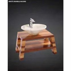 White Marble Table Top Stone Basin