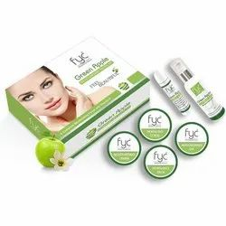 Herbal Green Apple Facial Kit, For Face, Packaging Size: 6 Pack Of 50g