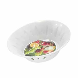 White Plastic Fruit Basket, Size: 6 Inch