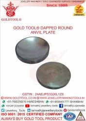 Gold Tool Round Anvil Plate