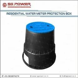 Residential water meter protection box