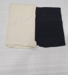 Casual Wear Cotton Chikan Work Suit Fabric, Handwash, 80 Gsm