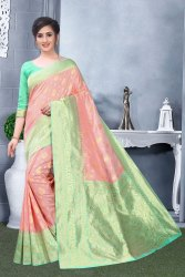 Pink Wedding Wear Art Silk Jacquard Silk Saree, 6.3 M (With Blouse Piece)
