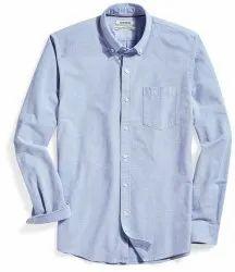 Collar Neck Plain Mens Cotton Uniform Oxford Shirt, Handwash, Size: Xl
