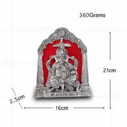 Silver Plated Ganesh Photo Frame