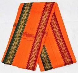 Plain Cotton Bjp Bhagwa Gamcha Saffron Scarves & Shawls, For Promotional Gift, Rectangle