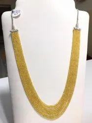 Yellow Sapphire Necklace - 320 Carat