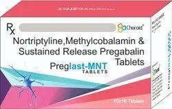 PREGABALIN (SR) METHYLCOBALAMIN AND NORTRIPTYLINE Tablets (PREGLAST Mnt)