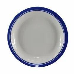 Ceramic Round Melamine Dinner Plate, For Home