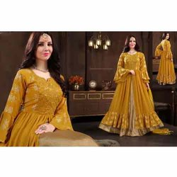 Embroidery Ladies Indo Western Party Wear Suit