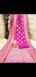Fancy Zini Butti Banarasi Silk Saree