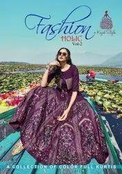 Kajal Style Fashion Holic Vol 2 Rayon With Embroidery Work Kurti With Bottom Catalog