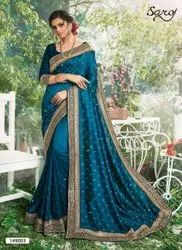 Fancy Designer Swarovski Diamond Work Saree