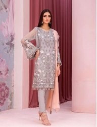 Semi-Stitched party Ladies Salwar Suits Pakistani Dress Materials