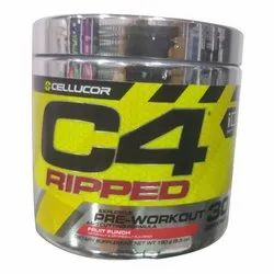 C4 Ripped Fruit Punch Flavour Protein, Powder, Packaging Size: 180g