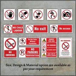 Prohibition Safety Signages