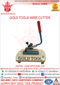 Gold Tool Wire and Strip Cutter