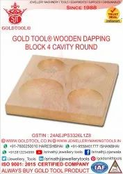 Gold Tool 4 Cavity Wooden Block Plate