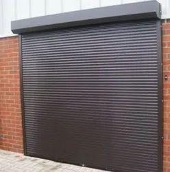 Exterior White Security Rolling Shutter, Dimension/Size: 6 X 7 Feet