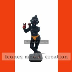 Marble Iskcon Krishna Black Statue