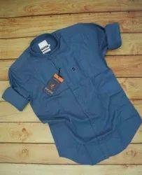 Mens Casual shirts Leaf Star Lenin Cotton