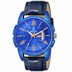 Blue Optima Watch Men's Fashion Water Resistant Sports Slim Analogue Quartz