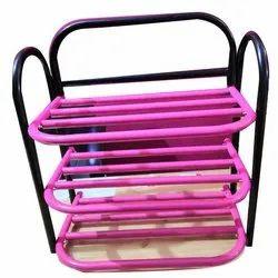 Style Mayur 3 Shelf Iron Shoe Rack, For Home