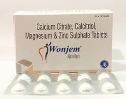 Calcium Citrate, Calcitriol, Magnesium & Zinc Tablets