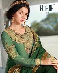 Multicolor Wedding Wear Fantastic Satin Georgette with Heavy Dupatta and Bottom Work