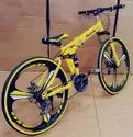 Audi Yellow Foldable Cycle