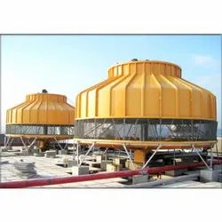 MAC Fiberglass Reinforced Polyester High Side Induced Draft Cooling Tower, Round, Capacity: 100 Ton