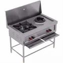 Combi Chinese Cooking Range - Two Burner (1 Indian & 1 Chinese)