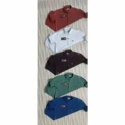 Printed Mens Collar Neck Plain Shirts, Handwash, Size: Xl