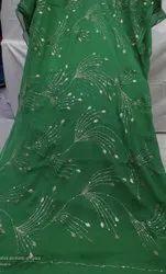 Designer Handwork Chiffon Saree, 5.2 m (separate blouse piece)