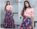 Khushboo Fashion Frill And Flare Vol 1 Rayon Cotton Printed Crop Top With Skirt Catalog