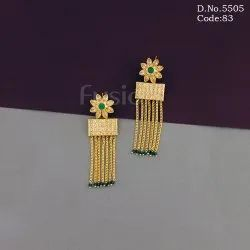 Designer Antique Stylish Polki Earrings