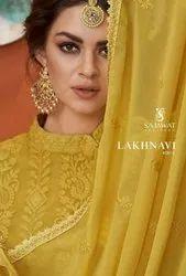 Sajawat Creation Lakhnavi Vol 5 Georgette Ready Made Salwar Kameez Catalog
