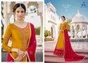 Alisa Kiara Vol 5 Satin Georgette Long Ghaghra Style Salwar Kameez Catalog