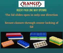 Plastic Insert Pack 1 Way Opening, For Carbide Cbn Inserts, Packaging Type: In Cartons