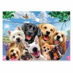 SUPER 3D - Dogs Button Folder