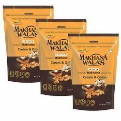 Makhanawalas Roasted Makhana (Foxnuts) Cream Onion Pack of 3 80 g Each.