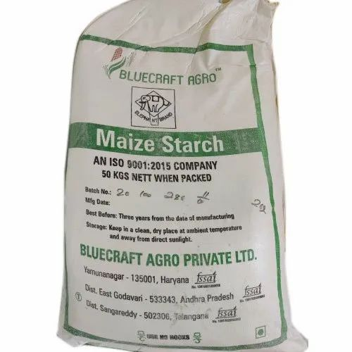 Indian Powder Maize Starch, Packaging Size: 50Kg