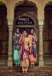 Ibiza Suit Zalifah Muslin Jacquard With Fancy Embroidery Salwar Suit Catalog