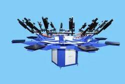8 Color Manual Screen Printing Machines