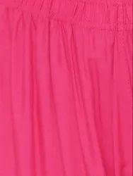 Pink Plain Rayon Fabric