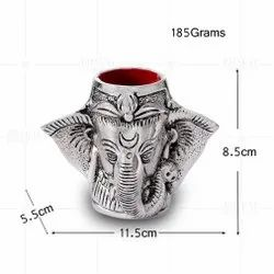 Silver Plated Ganesh Pen Stand